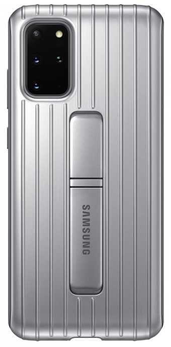Чехол (клип-кейс) SAMSUNG Protective Standing Cover, для Samsung Galaxy S20+, серебристый [ef-rg985csegru]