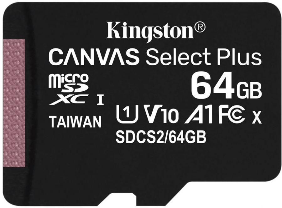 Карта памяти microSDXC UHS-I KINGSTON Canvas Select Plus 64 ГБ