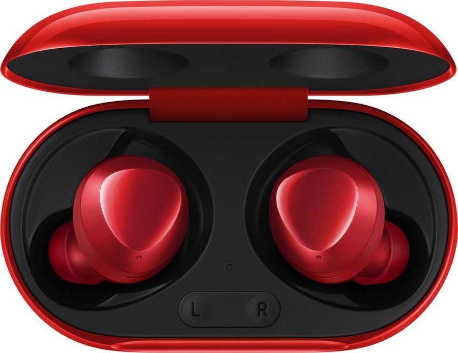Наушники с микрофоном SAMSUNG Buds+, Bluetooth, вкладыши, красный [sm-r175nzraser]