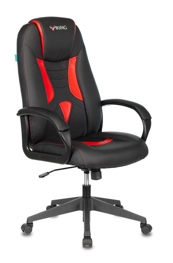 Кресло игровое БЮРОКРАТ VIKING-8N, черный/красный