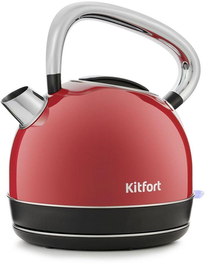Чайник электрический KITFORT КТ-696-1, 2150Вт, красный