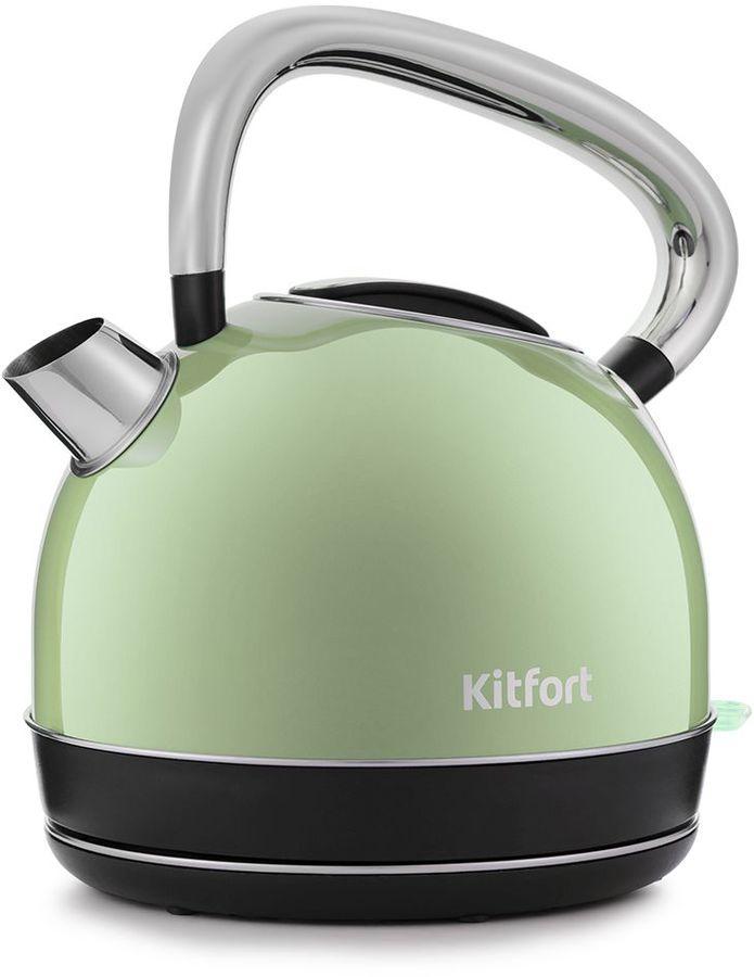 Чайник электрический KITFORT КТ-696-3, 2150Вт, салатовый