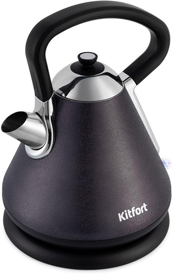 Чайник электрический KITFORT КТ-697-1, 2150Вт, черный