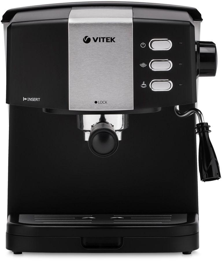 Купить Кофеварка VITEK 1523-VT, черный / серебристый в интернет-магазине СИТИЛИНК, цена на Кофеварка VITEK 1523-VT, черный / серебристый (1372285) - Москва