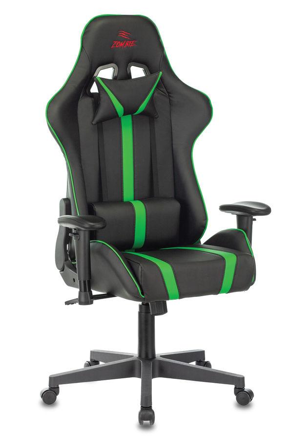 Кресло игровое БЮРОКРАТ VIKING ZOMBIE A4, черный/зеленый