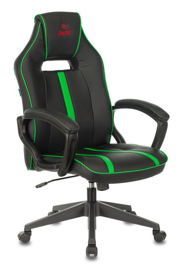 Кресло игровое БЮРОКРАТ VIKING ZOMBIE A3, зеленый/черный
