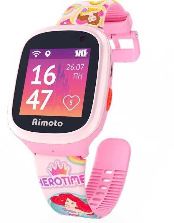 """Смарт-часы КНОПКА ЖИЗНИ Disney Принцессы,  1.44"""",  розовый"""