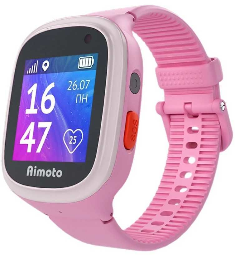 """Смарт-часы КНОПКА ЖИЗНИ Aimoto Start 2,  1.44"""",  розовый"""