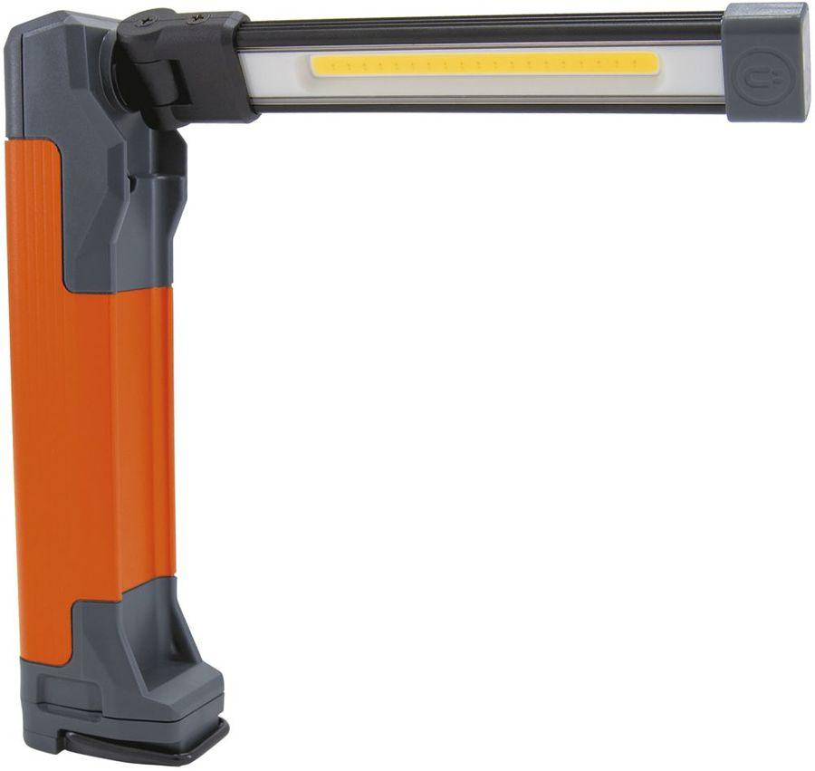 Аккумуляторный фонарь ЯРКИЙ ЛУЧ Optimus Fold 240, черный / оранжевый