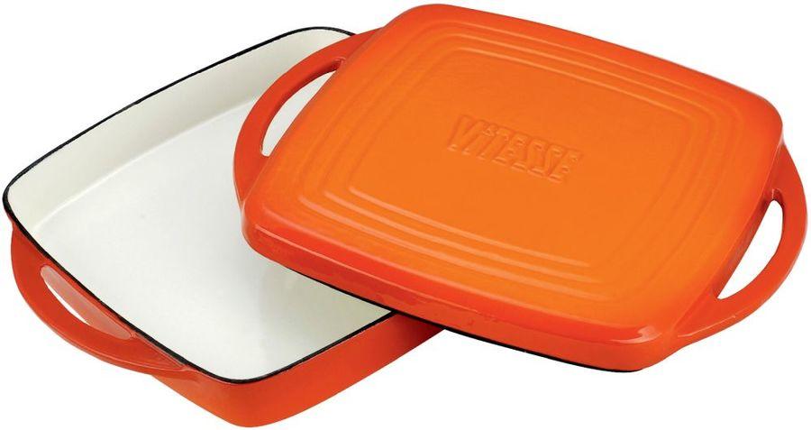 Жаровня VITESSE VS-2315,  3.2л,  с крышкой, оранжевый