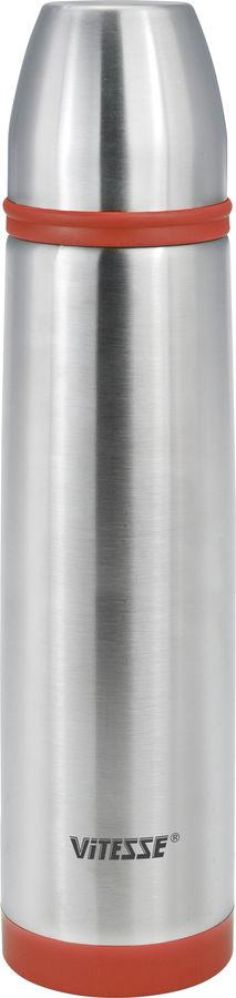 Купить Термос VITESSE VS-2632, 1.0л, стальной/ красный в интернет-магазине СИТИЛИНК, цена на Термос VITESSE VS-2632, 1.0л, стальной/ красный (1417072) - Новосибирск