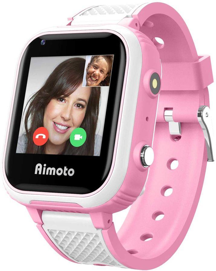 """Купить Смарт-часы КНОПКА ЖИЗНИ Aimoto Pro Indigo 4G, 1.44"""", розовый в интернет-магазине СИТИЛИНК, цена на Смарт-часы КНОПКА ЖИЗНИ Aimoto Pro Indigo 4G, 1.44"""", розовый (1437394) - Нальчик"""