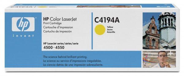 Картридж HP C4194A желтый