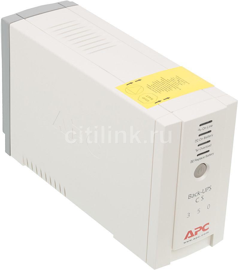 Источник бесперебойного питания APC Back-UPS BK350EI,  350ВA
