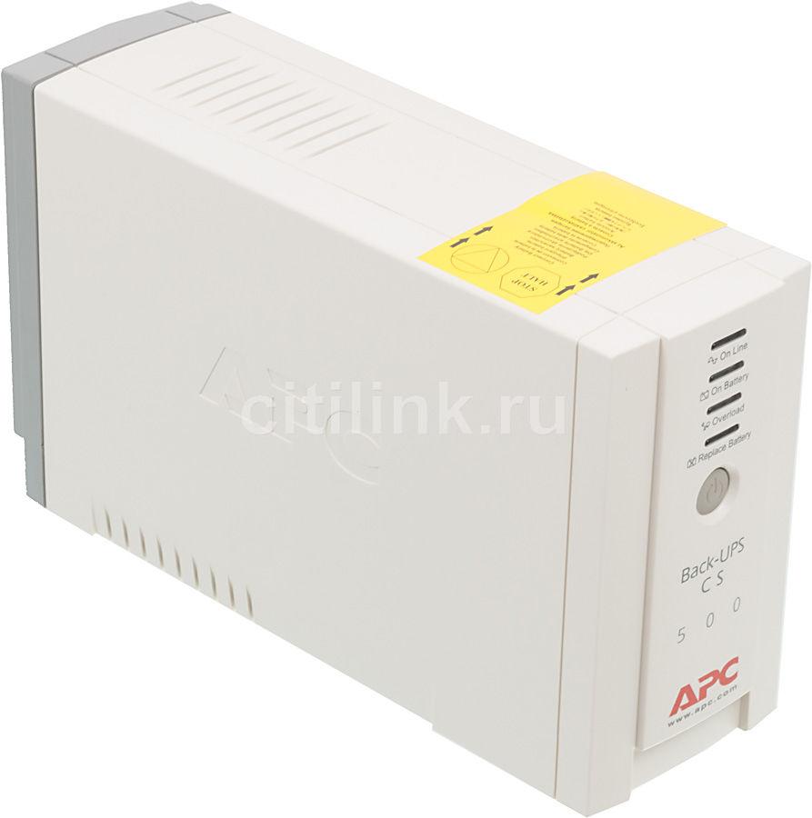 Источник бесперебойного питания APC Back-UPS BK500EI,  500ВA