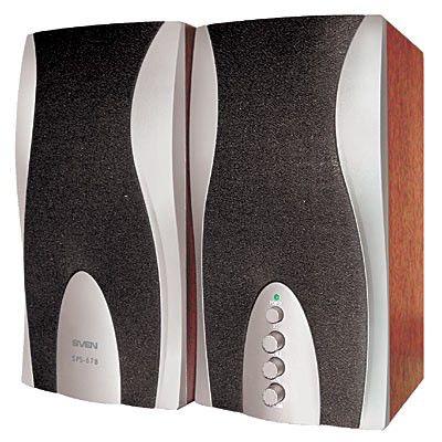 Колонки SVEN SPS-678,  коричневый