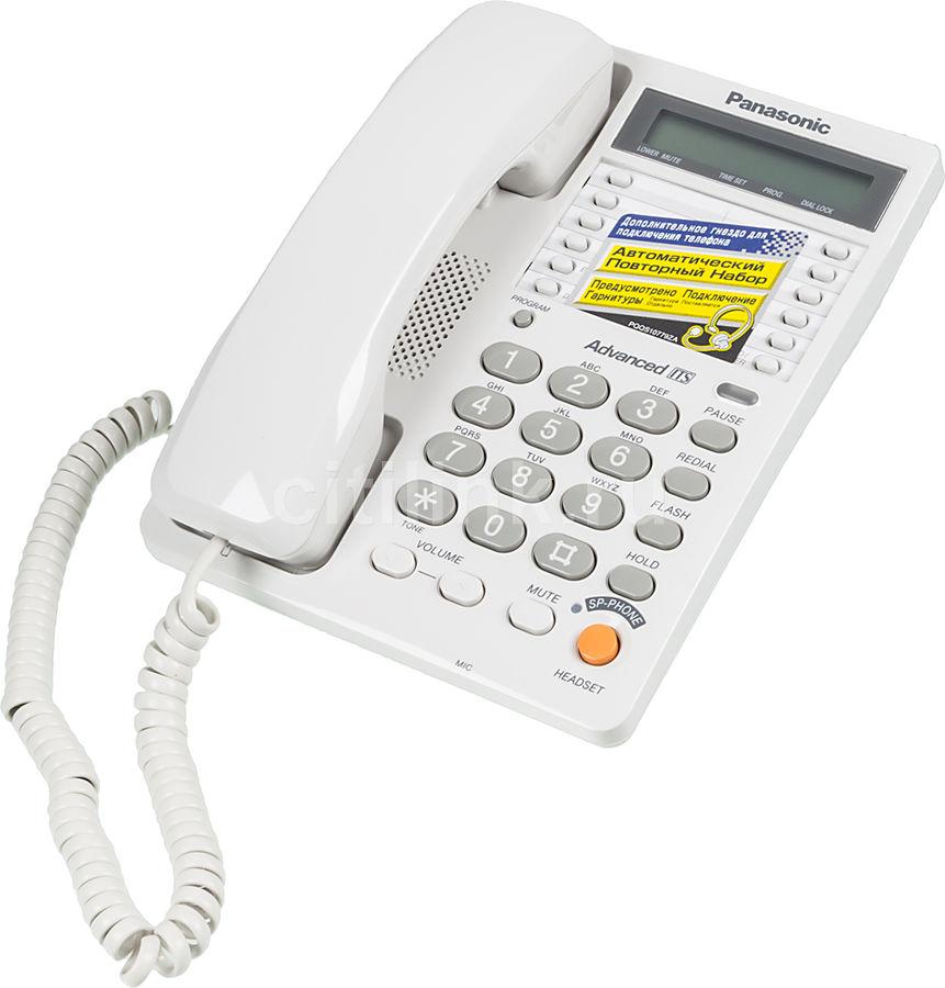 Проводной телефон PANASONIC KX-TS2365RUW, белый