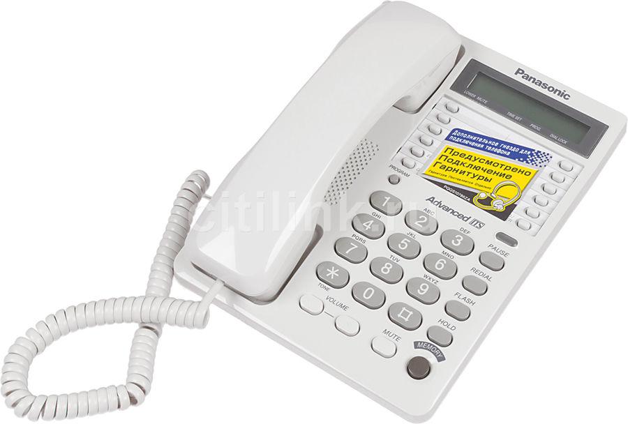 Проводной телефон PANASONIC KX-TS2362RUW, белый