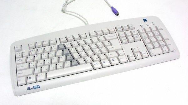 Клавиатура A4 KBS-720,  PS/2, белый [kbs-720 ps (grey)]