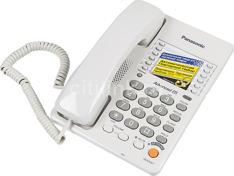 Проводной телефон PANASONIC KX-TS2363RUW, белый
