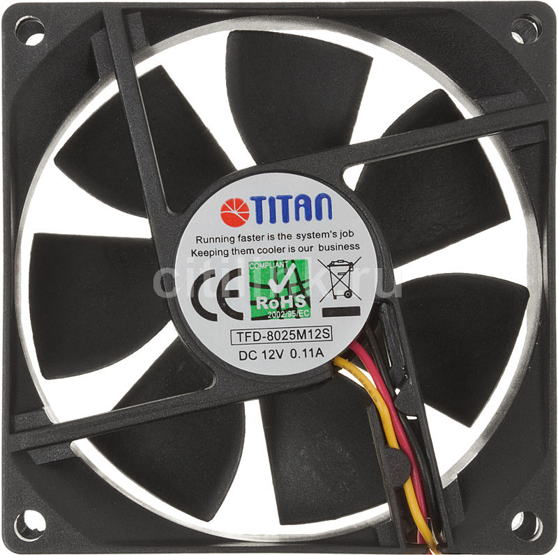 Система охлаждения TITAN TFD-8025M12S,  80мм, Ret