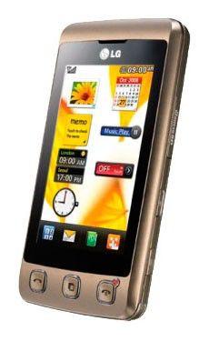 Мобильный телефон LG KP 500  коричневый