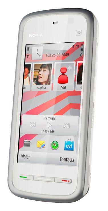 Музыкальный телефон NOKIA 5230  белый/серебристый