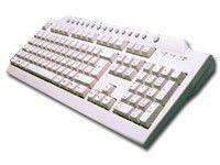 Клавиатура MITSUMI KSX-EC0HY/KFK-EB9HY,  PS/2, белый [r560329/561636]