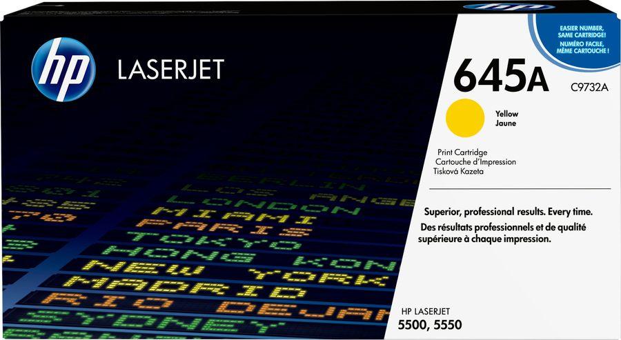 Картридж HP 645A C9732A,  желтый