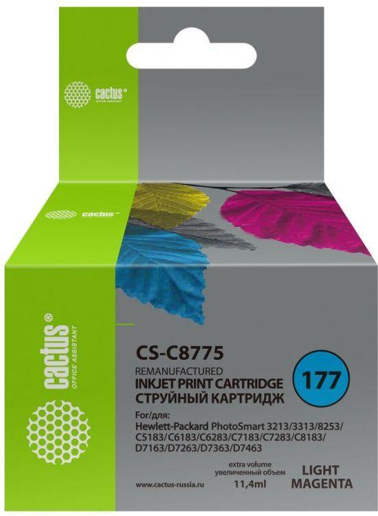 Картридж CACTUS CS-C8775, №177, светло-пурпурный