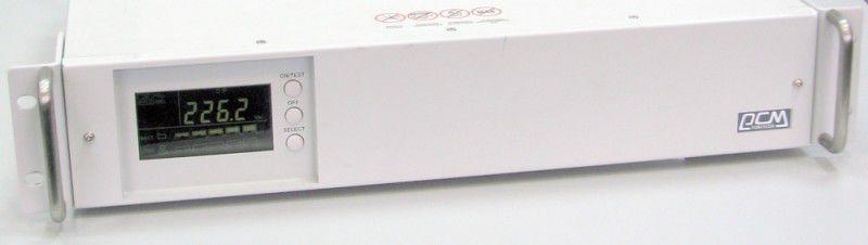 Источник бесперебойного питания POWERCOM Smart King SMK-600A-RM LCD,  600ВA [rmk-600a-6gc-2440]