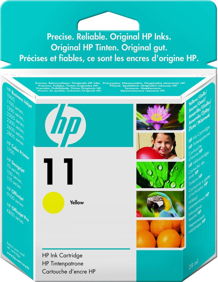 Картридж HP 11, желтый [c4838a]