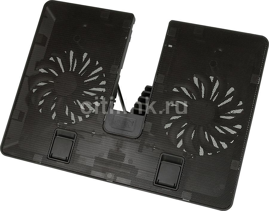"""Подставка для ноутбука Deepcool U PAL (U-PAL) 15.6""""390x280x28мм 26дБ 1xUSB 2x 140ммFAN 765г пластик"""