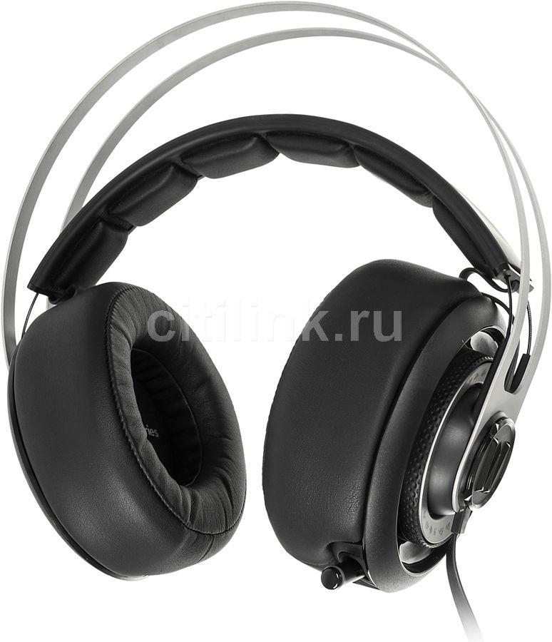 Наушники с микрофоном STEELSERIES Siberia Elite World of Warcraft,  51154,  мониторы, черный  / серебристый