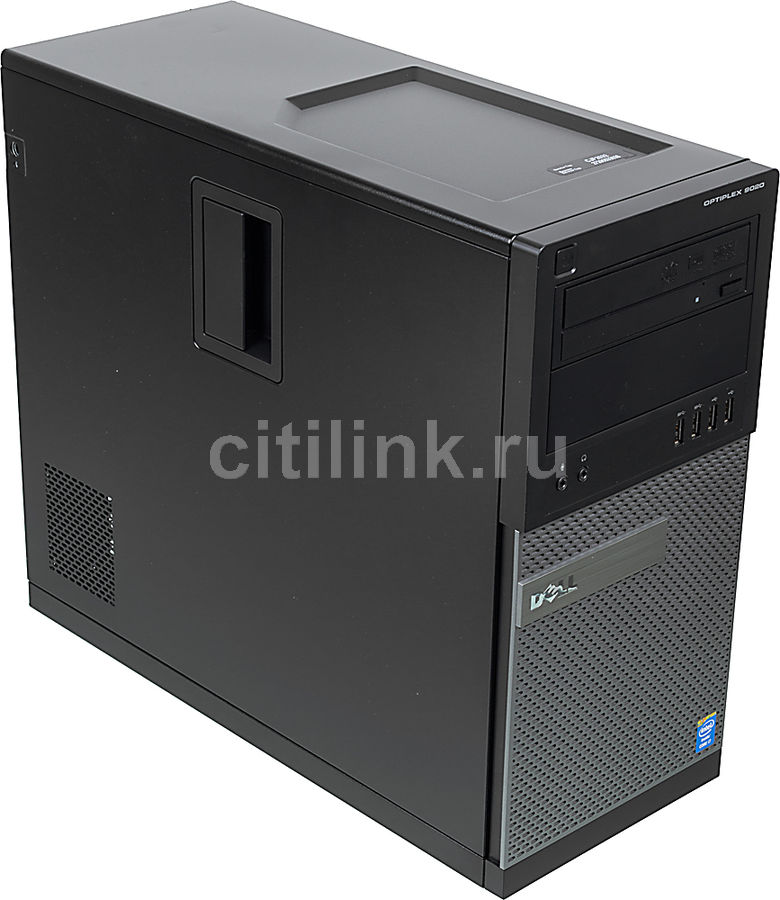 Компьютер  DELL Optiplex 9020 MT,  Intel  Core i7  4790,  DDR3 8Гб, 500Гб,  Intel HD Graphics 4600,  DVD-RW,  Windows 7 Professional,  черный и серый [9020-4507]