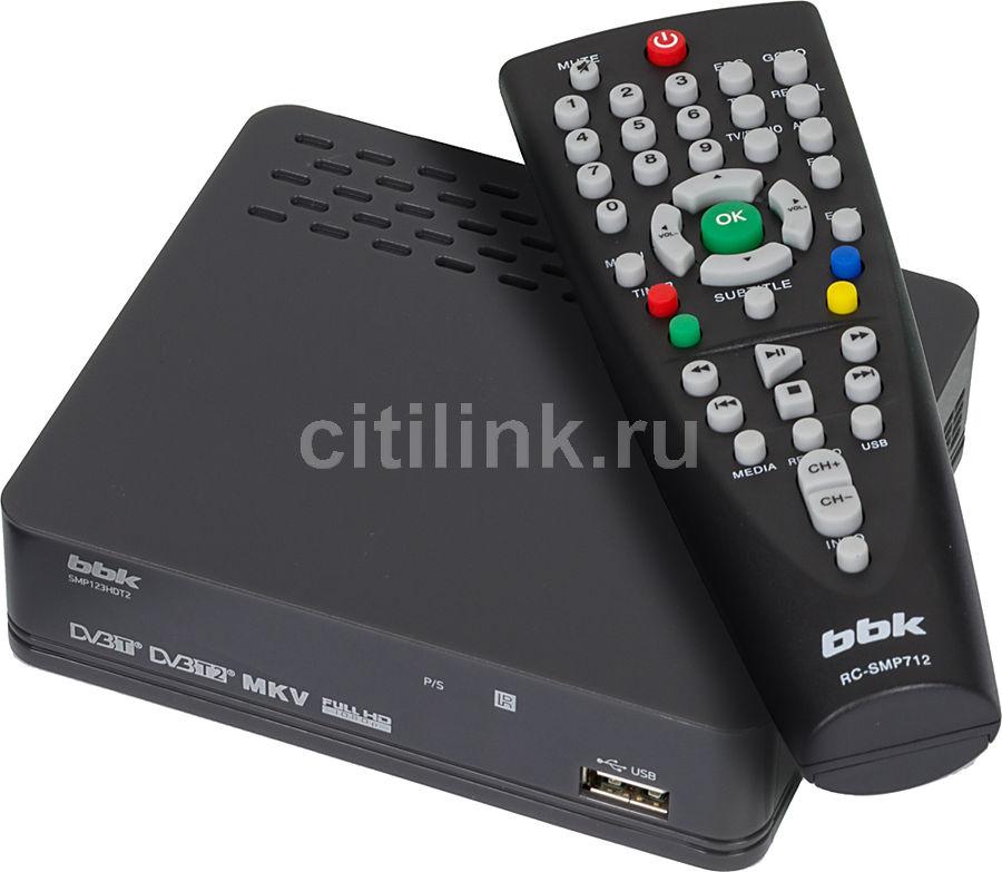 Ресивер DVB-T2 BBK SMP123HDT2,  темно-серый [(dvb-t2) dvb-t smp123hdt2 т-с]