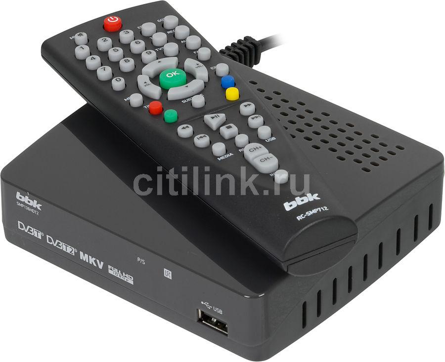 Ресивер DVB-T2 BBK SMP136HDT2,  темно-серый [(dvb-t2) dvb-t smp136hdt2 т-с]
