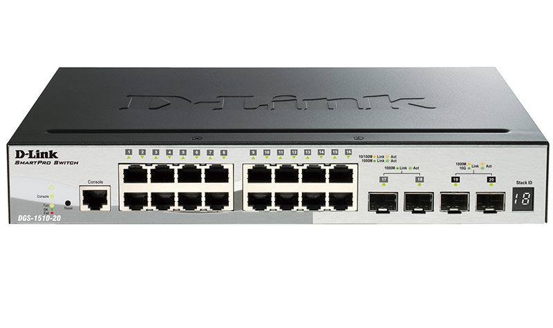 Коммутатор D-LINK DGS-1510-20/A1A, DGS-1510-20/A1A