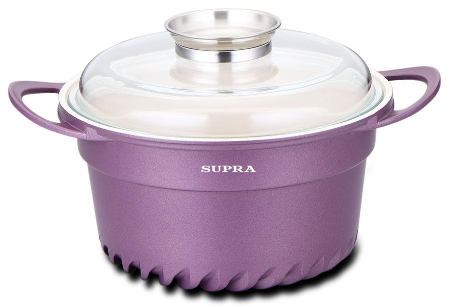 Кастрюля Supra Sonti violet SAD-S242C 4.5л. 24см. фиолетовый [sad-s242c violet]