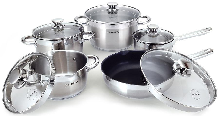 Набор посуды Supra YUMI NEW SYS-N1046Kit 10 предметов,с/кр