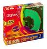 Оптический диск CD-RW DIGITEX 210Мб 12x, 5шт., slim case, разноцветные [rw23cx12-sc5] вид 1