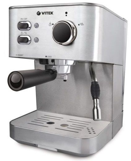 Кофеварка VITEK VT-1515-SR,  эспрессо,  серебристый