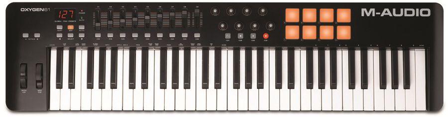 Клавиатура MIDI M-Audio Oxygen 61 II клав.:61 корпус:пластик черный