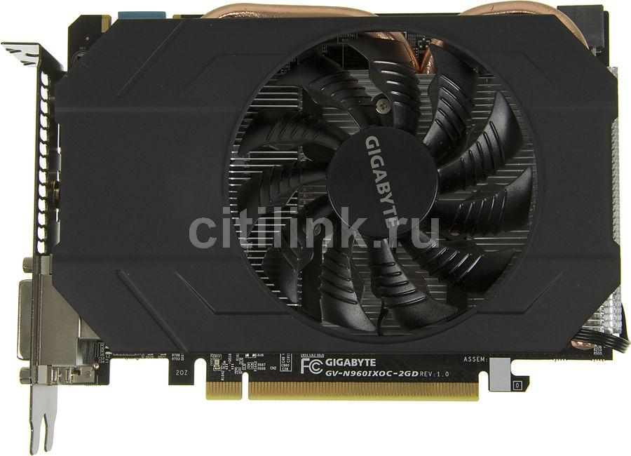 Видеокарта GIGABYTE GeForce GTX 960,  GV-N960IXOC-2GD,  2Гб, GDDR5, OC,  Ret