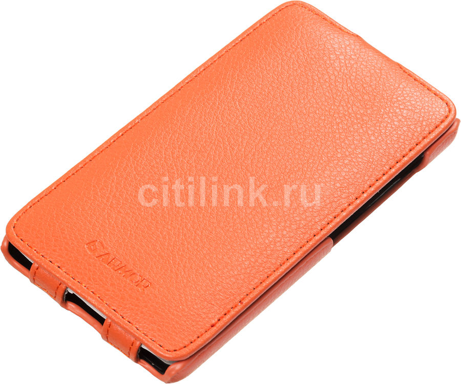 Чехол (флип-кейс) ARMOR-X flip full, для Microsoft Lumia 535 Dual, оранжевый