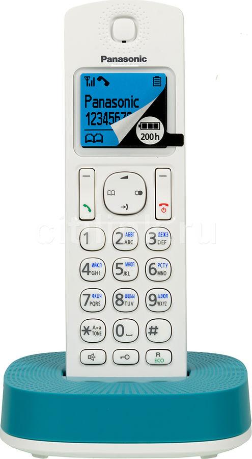 Радиотелефон PANASONIC KX-TGC310RUC,  белый и голубой