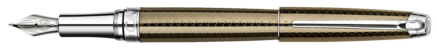 Ручка перьевая Carandache Leman Caviar SP (4799.487) F золото 18K подар.кор.