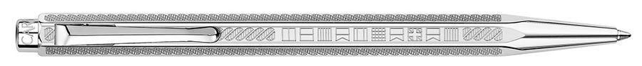 Ручка шариковая Carandache Ecridor YACHT CLUB (890.511) латунь палладиевое покрытие