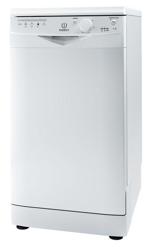 Посудомоечная машина INDESIT DSR 15B3 RU,  узкая, белая