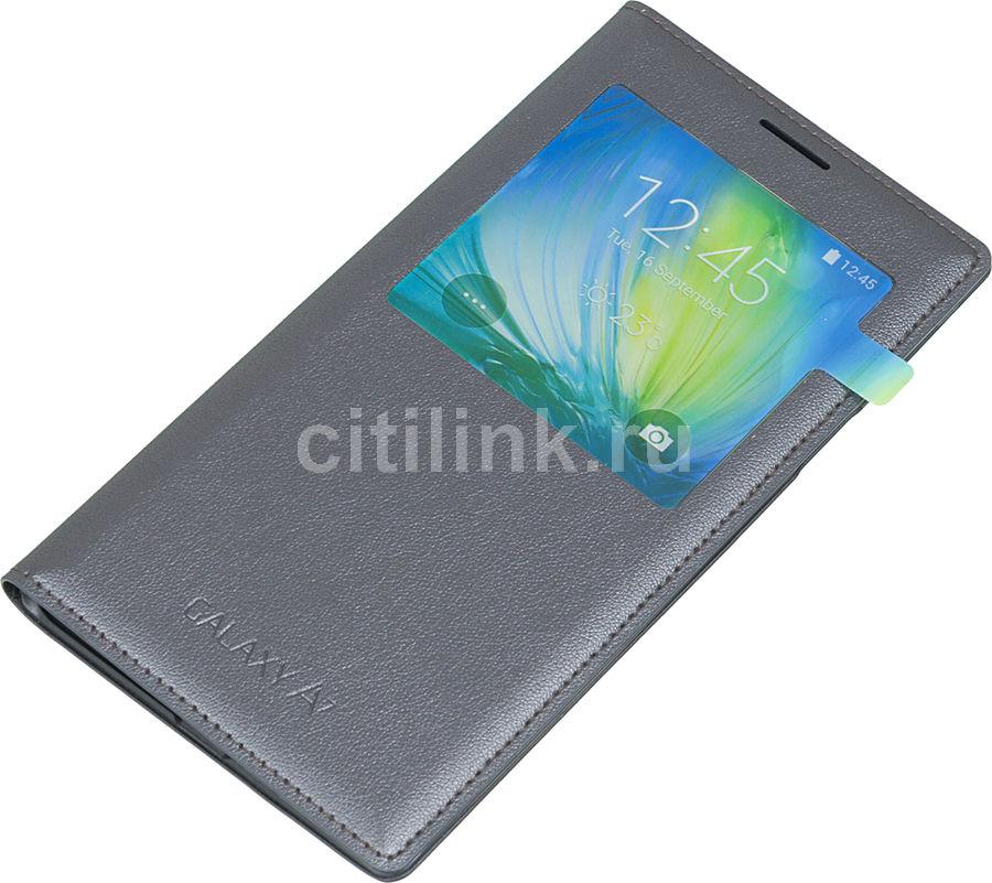 Чехол (флип-кейс) SAMSUNG S View, для Samsung Galaxy A7, черный [ef-ca700bcegru]